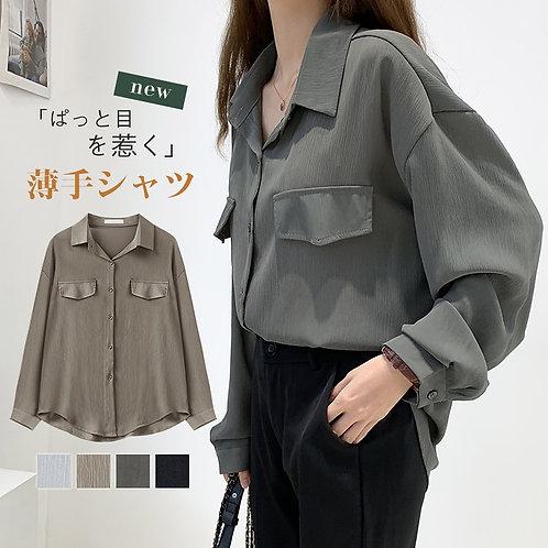薄手ロングシャツ sl0464