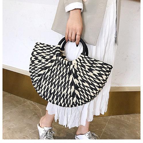 草編みかごバッグ op0168