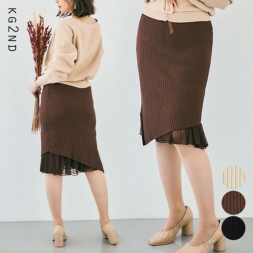 チュールレイヤードニットスカート ks0337