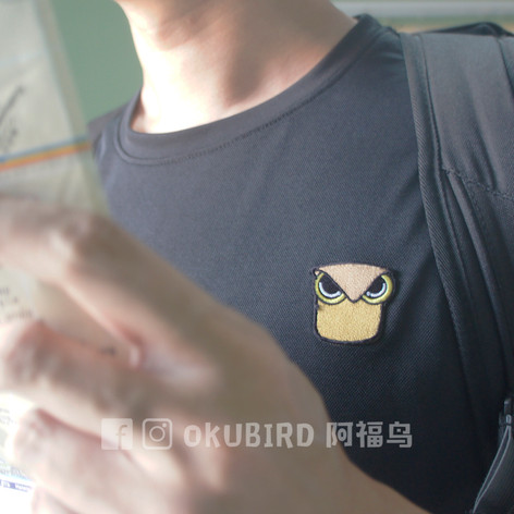OKUBIRD 阿福鸟 • 刺绣印章T恤