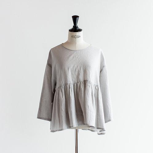Cotton Linen Gather Pullover