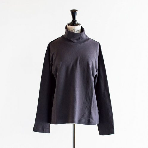 Cotton Linen Turtleneck L/S T-Shirt