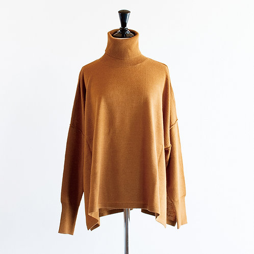 Wool Mix Knit Turtleneck Pullover