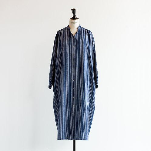 Cotton Linen Multi-Stripe Onepiece