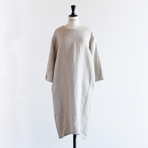 Wool Linen 2way Pullover Onepiece