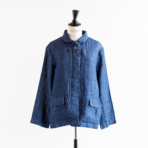 Linen Denim-Like Jacket