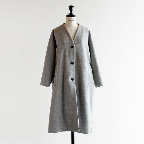 Wool Mix V Neck Coat