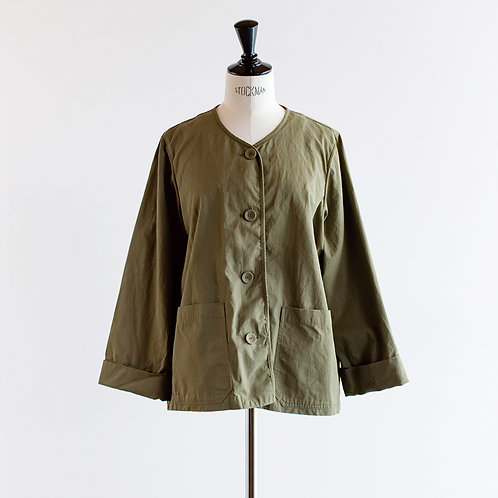 Cotton Twill No Collar Jacket