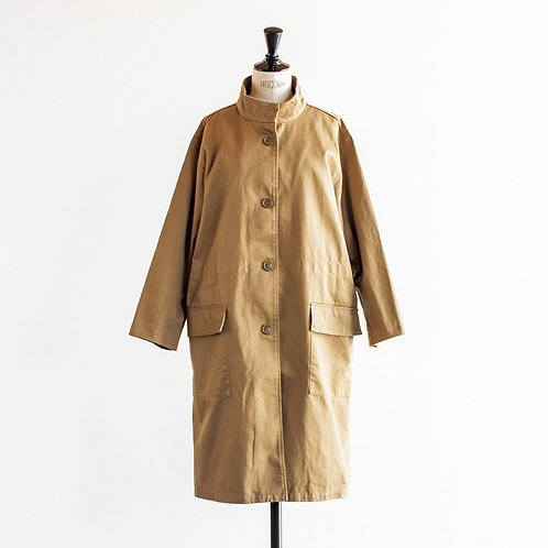 Cotton Twill Stand Collar Coat