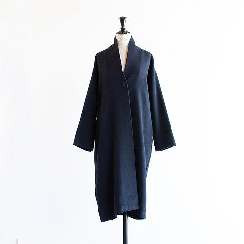 Wool Mix No Collar Coat