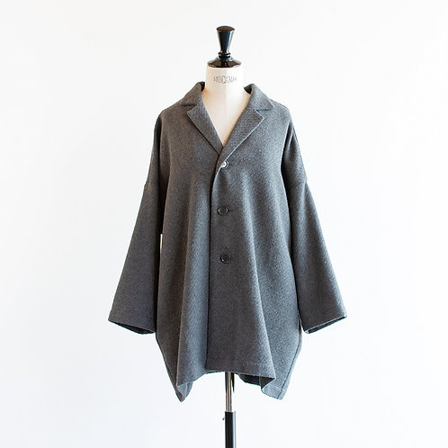 Wool Mix Wide Jacket