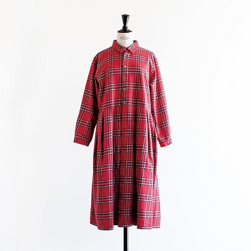 Cotton Linen Waist Tuck Shirts Onepiece