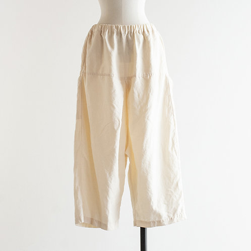 Cotton Linen Twill Ballon Pocket Pants