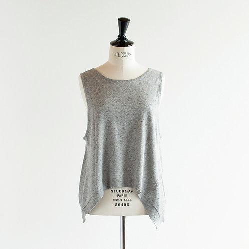 Cotton Linen Knit 2Way Vest