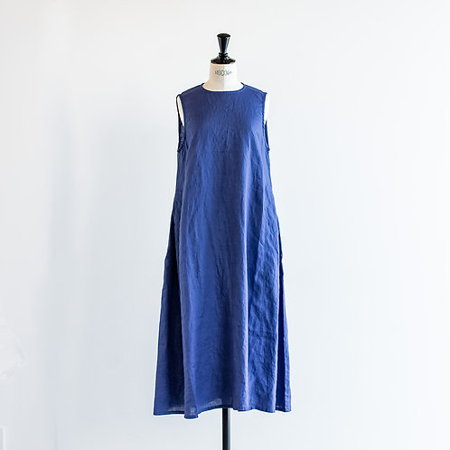 Linen No Sleeve Side Tuck Onepiece