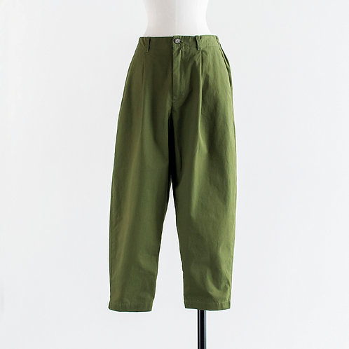 Cotton Twill Tapered Pants