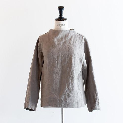 Linen Standneck 2way Pullover
