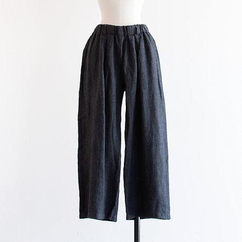 Linen Twill Tuck Long Pants