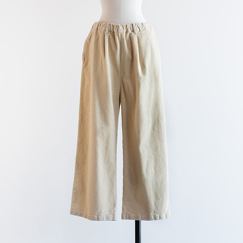 Strech Corduroy Wide Straight Pants