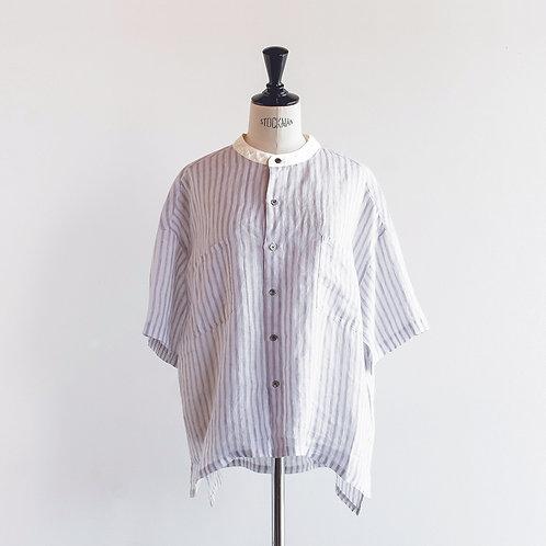 Linen Band Collar Cleric Shirts