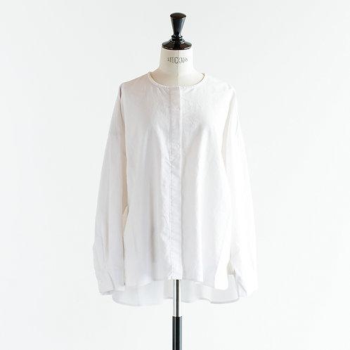 Cotton Linen No Collar Shirts