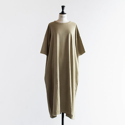 Organic Cotton Sulfidedye Wide Pullover Onepiece