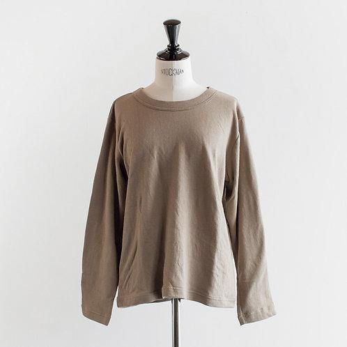 Cotton Linen Crewneck L/S T-Shirt