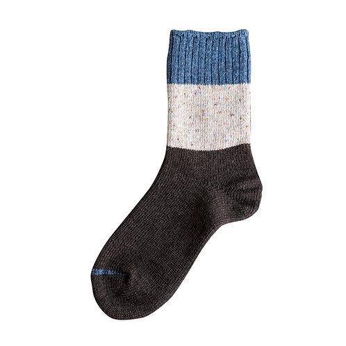 Wool Mix Switching Nep Socks