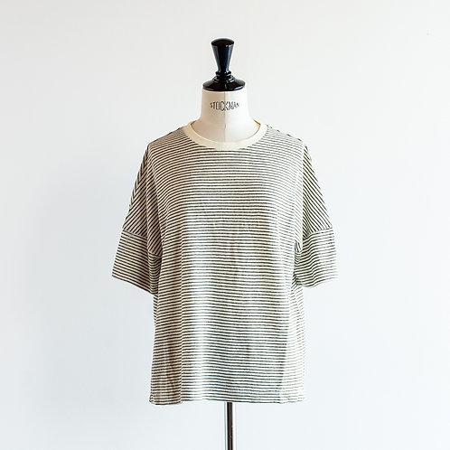 Linen Cut Border Wide Pullover