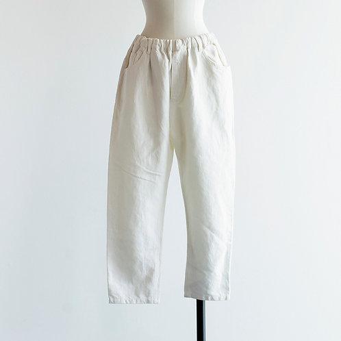 Cotton Linen Denim Tapered Pants