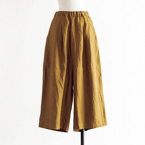 Heavy Linen Tuck Wide Pants