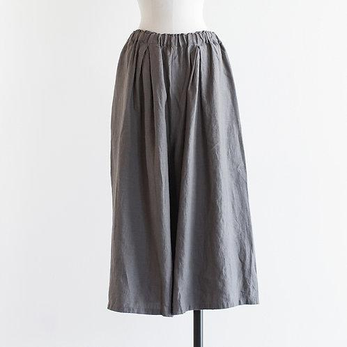 Linen Tuck Wide Pants