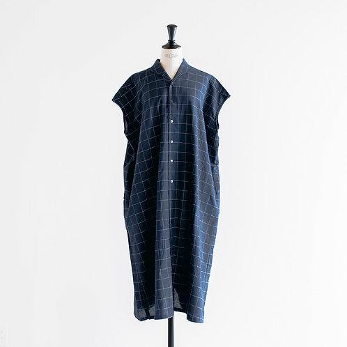 Cotton Linen Check Shirts Onepiece