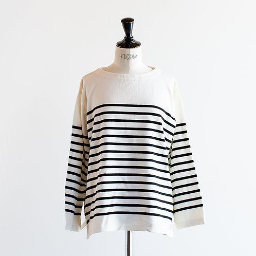 Cotton Knit Wide Basque Shirt