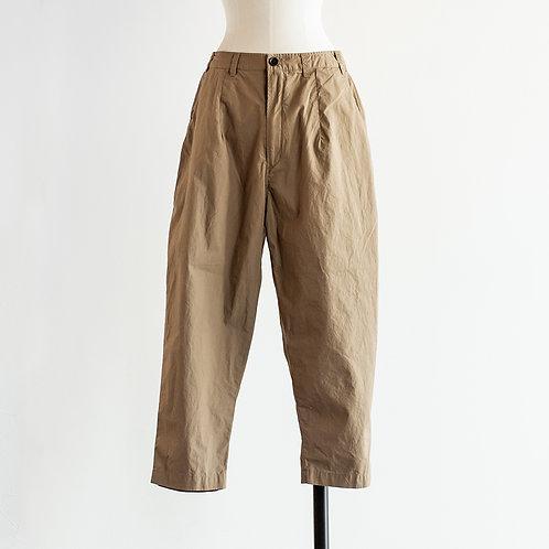 Cotton Typewriter Tapered Cropped Pants