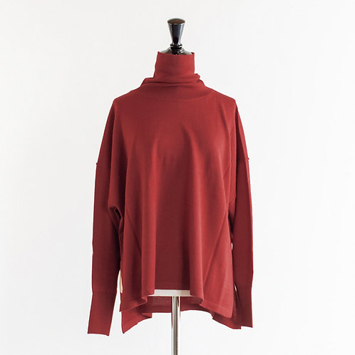 Acrylic Wool Knit Turtle Neck Pullover