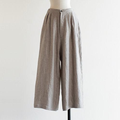 Linen Wool Herringbone Long Pants