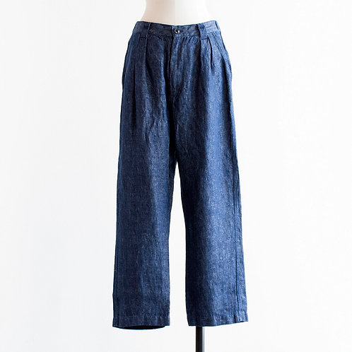 Linen Denim-Like Pants