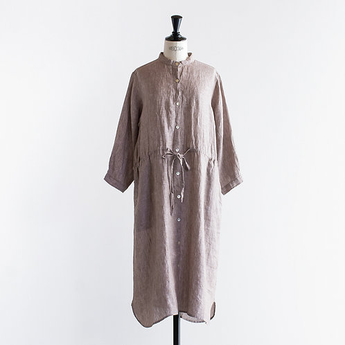 Linen Chambray Stand Shirts Onepiece