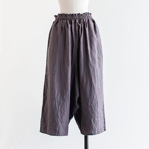 Linen Wide Sarrouel Pants