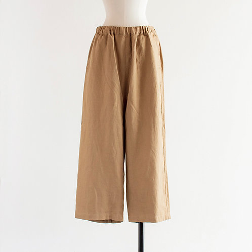 Linen Wide Straight Pants