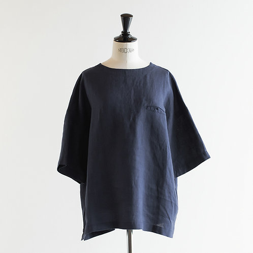 Linen Pocket Wide Pullover