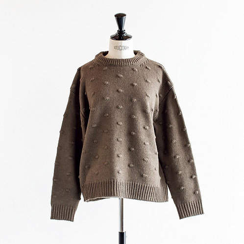 Acrylic Wool Popcorn Sweater