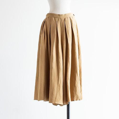 Linen Rayon Pleats Pants