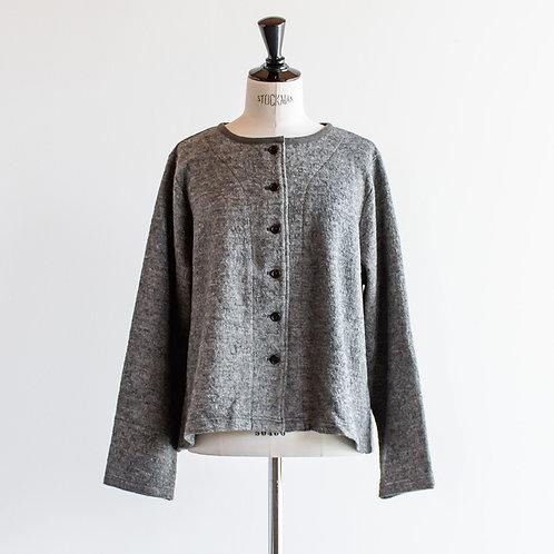 Wool Mix Piping Cardigan