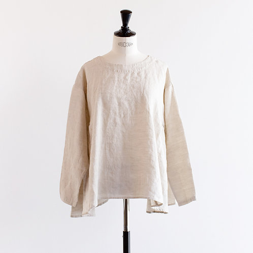 Linen Side Gather 2way Blouse