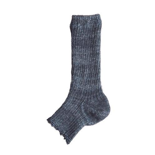 Linen&Organic Coton Rib Sandal Socks