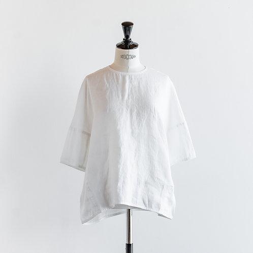 Linen Round Hem Pullover