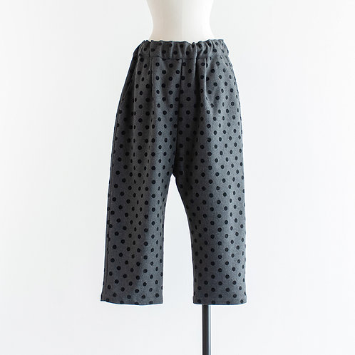 Wool Mix Dot Easy Pants