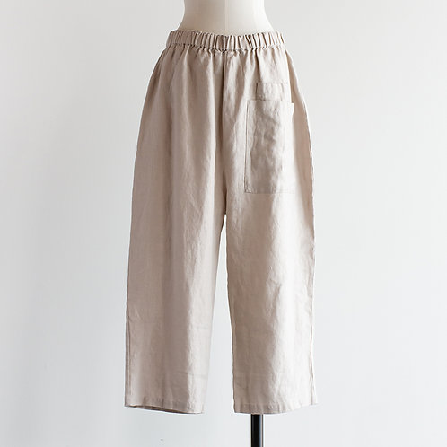 Heavy Linen Front Pocket Pants